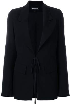 Ann Demeulemeester tie-front blazer