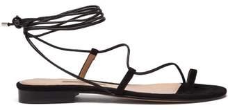 Emme Parsons Susan Wrap Around Suede Sandals - Womens - Black