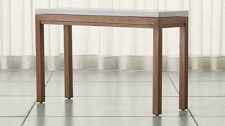 Crate & BarrelParsons Elm Console Table with Travertine Top