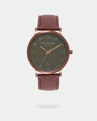 Ted Baker DAVUM Leather strap watch