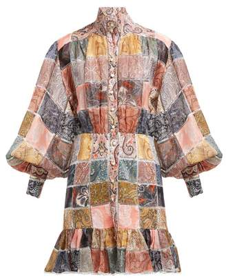 Zimmermann Ninety Six Patchwork Print Shirtdress - Womens - Multi