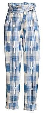 Robert Rodriguez Women's Hollie Plaid Tie-Waist Trousers - Size 0