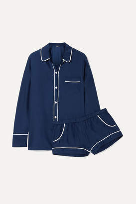 Three J NYC Emily Silk-charmeuse Pajama Set - Navy
