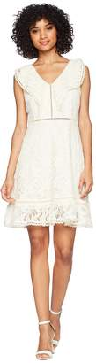 BB Dakota Rease Ruffle Detail Fit and Flare Dress Women's Dress
