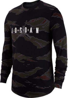 Nike Men's Jordan Sportswear Camo Tech Long-Sleeve T-Shirt