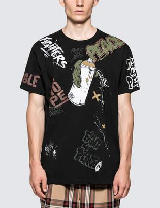 Faith Connexion All Over Tag Black S/S T-Shirt