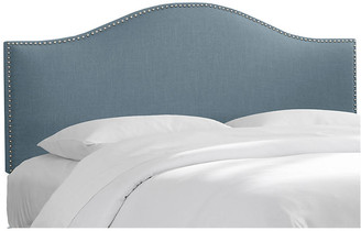 One Kings Lane French Blue Linen Tallman Headboard - C.K