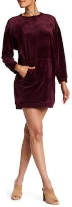 Max Studio Velour Sweatshirt Dress