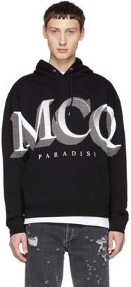 McQ Black Logo Big Hoodie