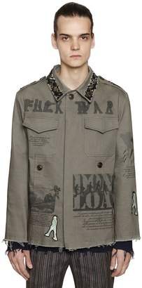 Etro Embellished Cotton Canvas Field Jacket