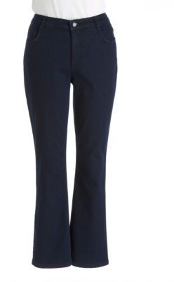 Jones New York Signature WOMENS Plus Lexington Embellished Straight Leg Jeans