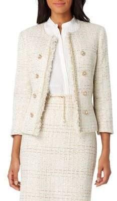 Tahari Arthur S. Levine Petite Embellished Button Boucle Jacket