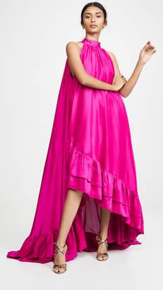 Azeeza Lucas High Neck Asymmetrical Dress