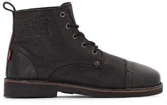 Levi's Track Leather Ankle Boots