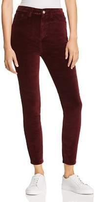 DL1961 Chrissy Ultra High Rise Skinny Velvet Jeans in Manor