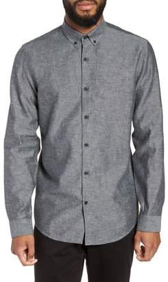 Calibrate Chambray Linen & Cotton Sport Shirt