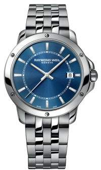 Raymond Weil Stainless Steel Bracelet Watch with Deep Blue Dial