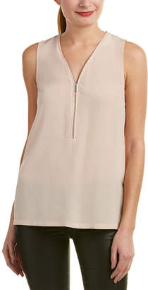 The Kooples Zipper Silk Tank