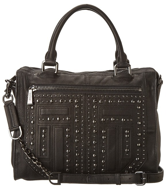 Botkier Rock Deco Satchel (Black) - Bags and Luggage