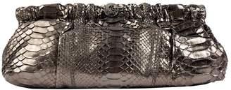 Valentino Silver Python Clutch bags