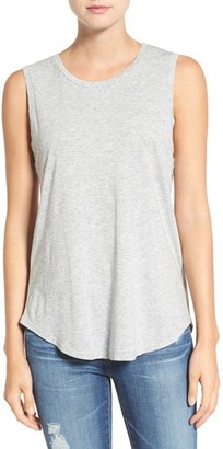 Women's Ag Ashton Cotton Muscle Tee $64 thestylecure.com