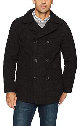 Excelled Men's Polyester Peacoat