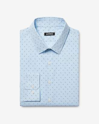 Express Slim Dotted Stripe Dress Shirt