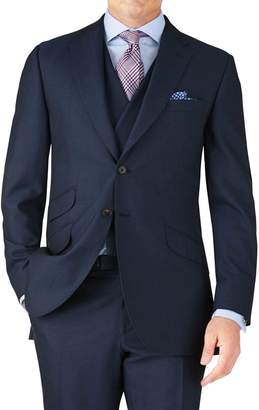 Blue Classic Fit British Panama Luxury Suit Wool Jacket Size 38 by Charles Tyrwhitt