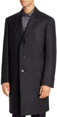 Canali Chevron Wool & Cotton Classic Fit Topcoat