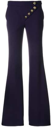 Chloé asymmetric flared trousers