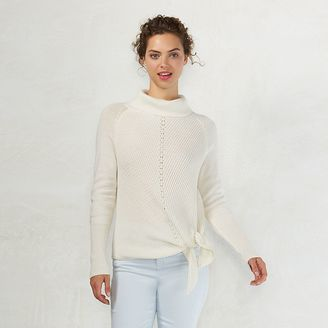 Women's LC Lauren Conrad Side-Tie Turtleneck Sweater $54 thestylecure.com