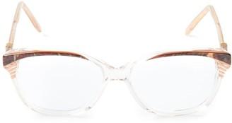 Saint Laurent Pre-Owned marbled glasses