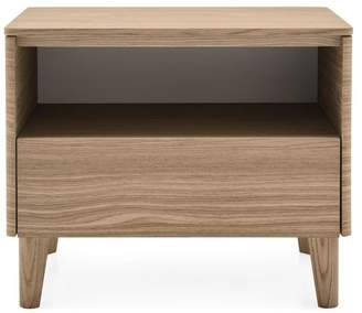 Calligaris Boston Nightstand With Polished Aluminum Top