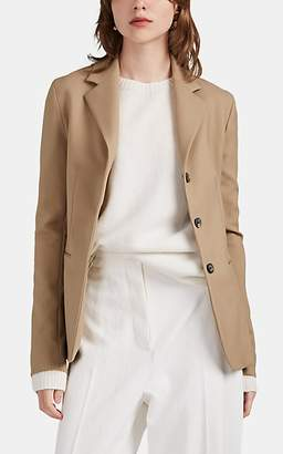 The Row Women's Defina Wool Canvas Three-Button Blazer - Neutral