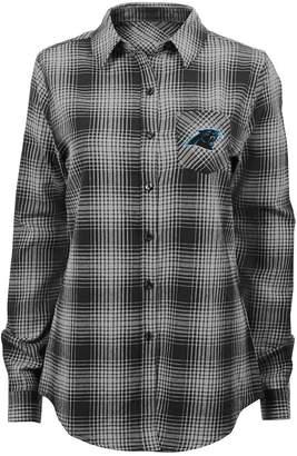 Juniors' Carolina Panthers Dream Plaid Shirt