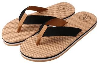Aerusi Women's Lightweight Open Toe Flip Flop Comfortable Foam Thong Sandals (Black)