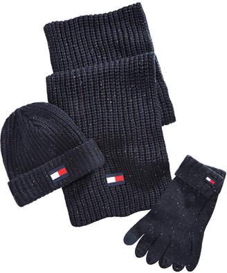 Tommy Hilfiger Ski Patrol Donegal Hat, Scarf & Gloves Set