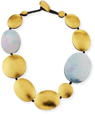 Viktoria Hayman Single-Strand Disc Necklace