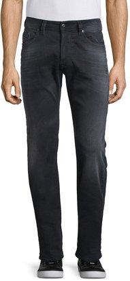 cec8f8a8 Diesel Larkee 0854A Distressed Denim Jeans, Black
