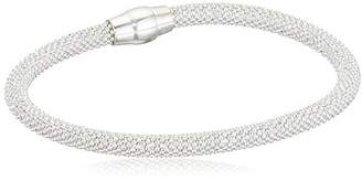 Elements Silver B172 Ladies' Love Knot Snake Sterling Silver Bracelet 8OFT4