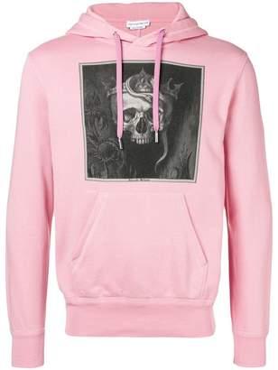 Alexander McQueen Crowned Skull print cotton hoodie