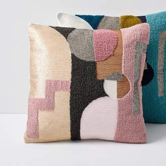 west elm Embellished Deco Shapes Pillow Covers