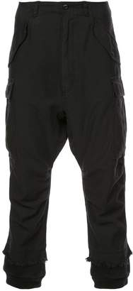 R 13 distressed cargo trousers
