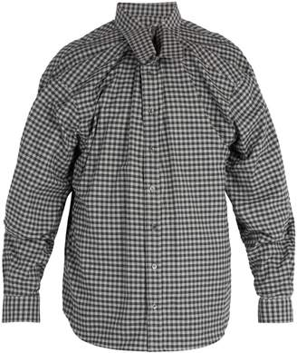 Y/Project Double-layered gingham cotton shirt