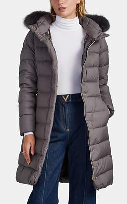 Herno Women's Fur-Trimmed Down Puffer Coat - Gray