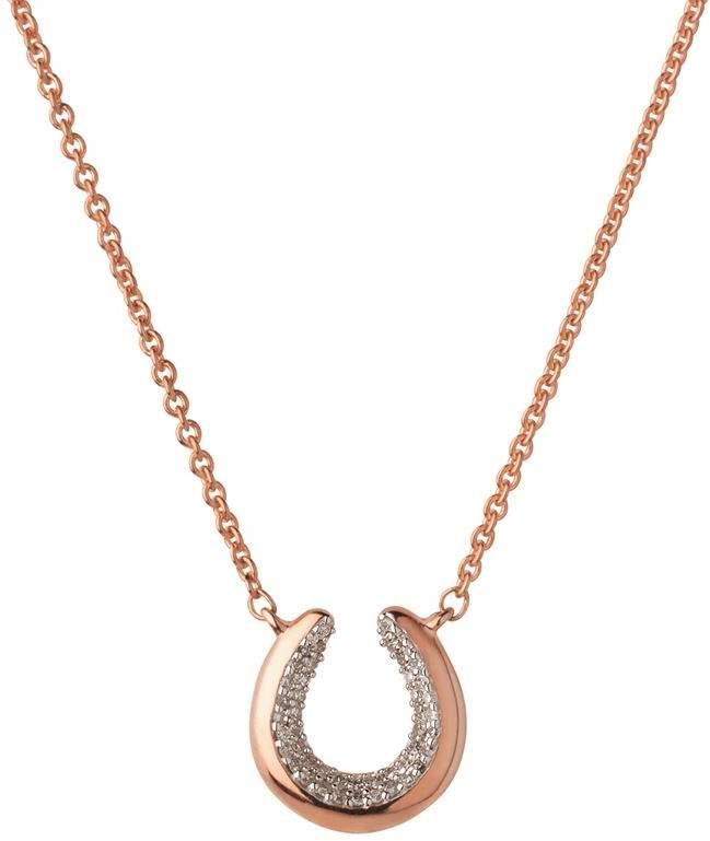 Ascot De Horseshoe Rose Gold Necklace