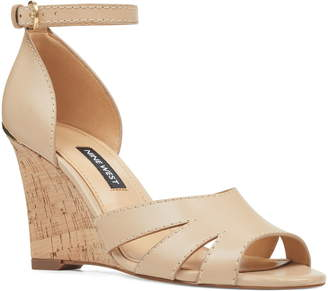 50ba83530284 Nine West Beige Wedge Women s Sandals - ShopStyle