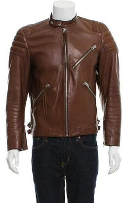 Acne Studios Leather Cafe Racer Jacket