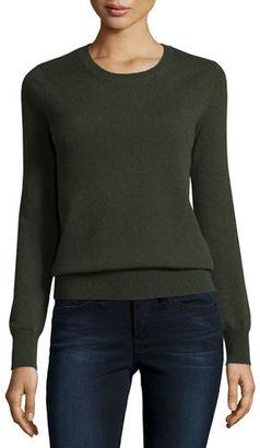 Neiman Marcus Cashmere Collection Long-Sleeve Crewneck Cashmere Sweater $125 thestylecure.com