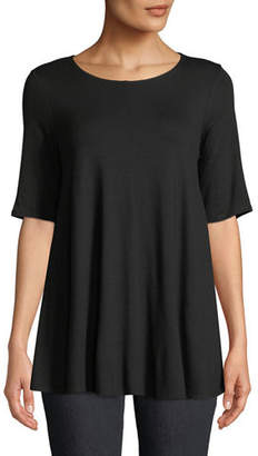 Eileen Fisher Petite Short-Sleeve Jersey Tunic